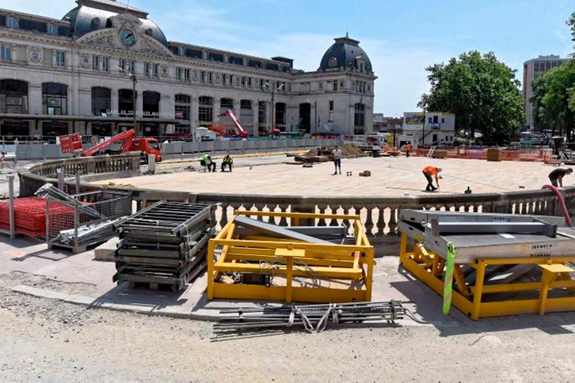 Chantier gare Matabiau Toulouse